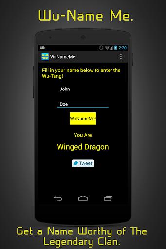 WuNameMe - Enter The Wu-Tang