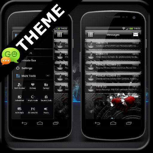 Jelly Black GO SMS Theme