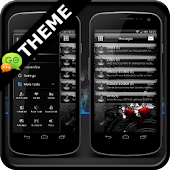 Jelly Black GO SMS Theme