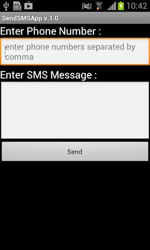 Send SMS app