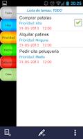 Screenshot of Planificador de tareas