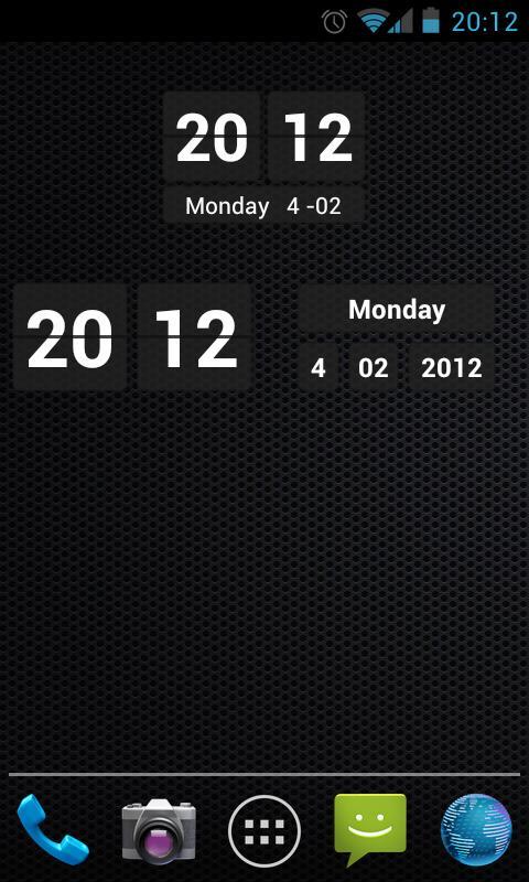 Digital Clock Widget - screenshot