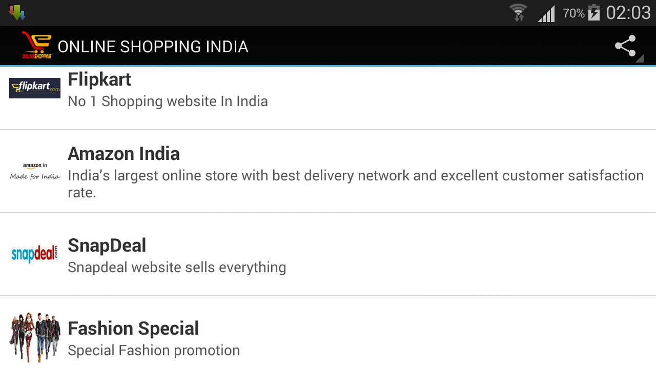 Online Shopping India- screenshot