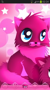 Pink cats theme 4 Go Launcher- screenshot thumbnail