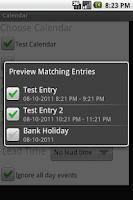 Screenshot of Locale Calendar Plugin