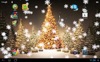 Screenshot of Snowfall live wallpaper