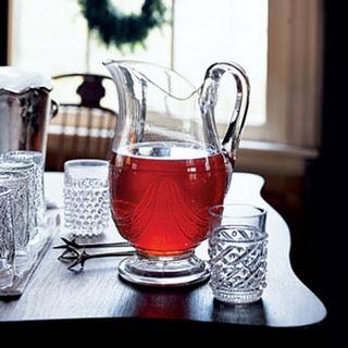 Sparkling Cranberry Tea Cocktails.