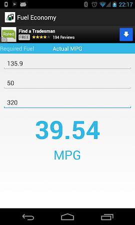 Fuel Economy 1.3 screenshot 2038149