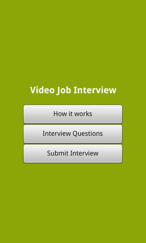 Job Ready - Video Interview- screenshot