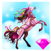 Robot Unicorn - Diamonds 3D