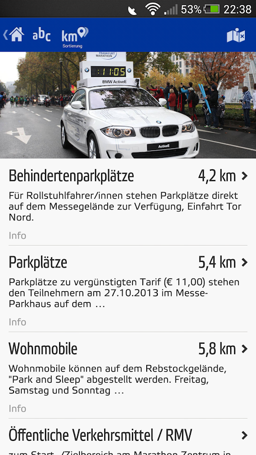 BMW Frankfurt Marathon - screenshot