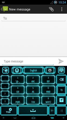 玩免費個人化APP|下載ネオンブルーのキーボード app不用錢|硬是要APP