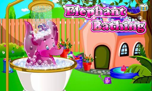 코끼리 목욕 소녀 게임