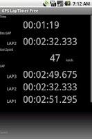 Screenshot of GPS LapTimer Lite