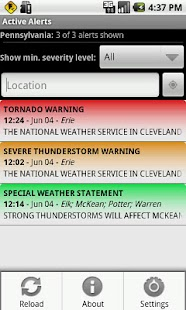 Active Alerts - Weather Alerts- screenshot thumbnail