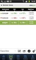 Screenshot of GCM Forex Mobil Trader