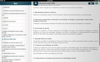 Screenshot of SUS para Concursos