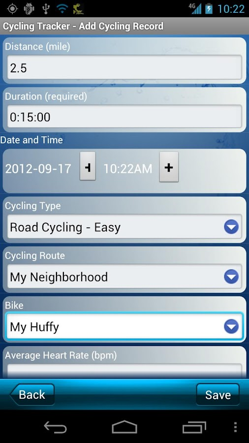 Cycling Tracker Pro - screenshot