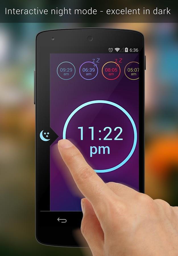 Neon Alarm Clock Free - screenshot