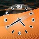 Glass Clock Black