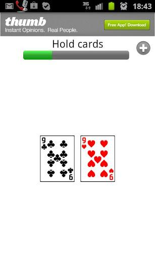 Live poker helper: Hand tracke