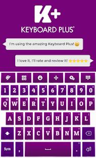 Purple HD Keyboard - náhled