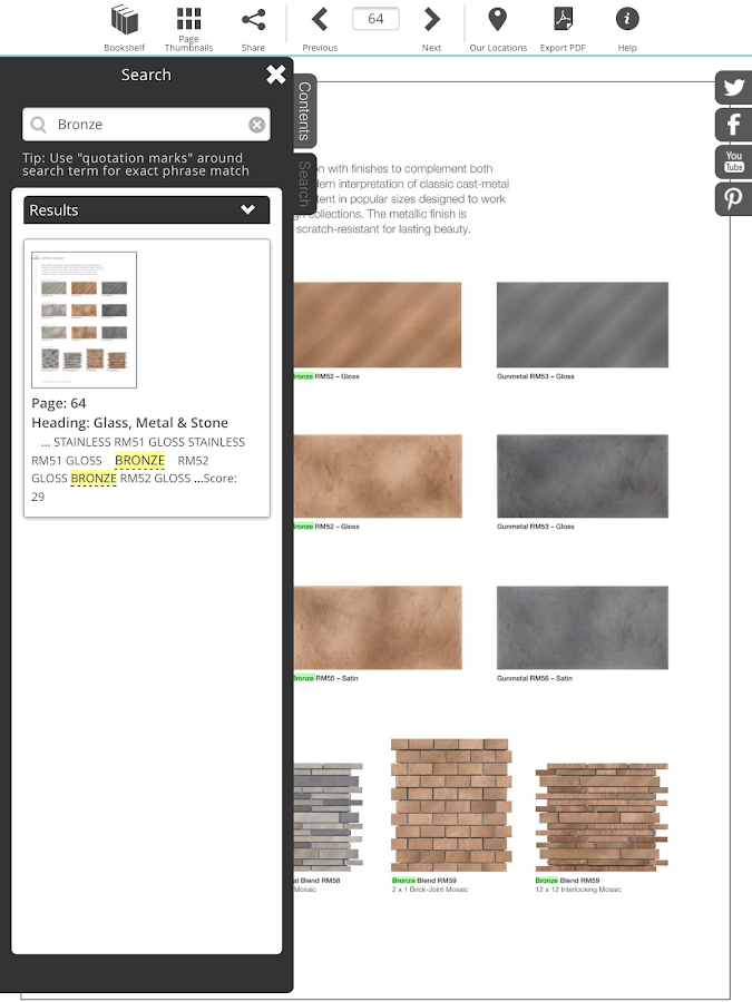 American Olean Product Catalog- screenshot