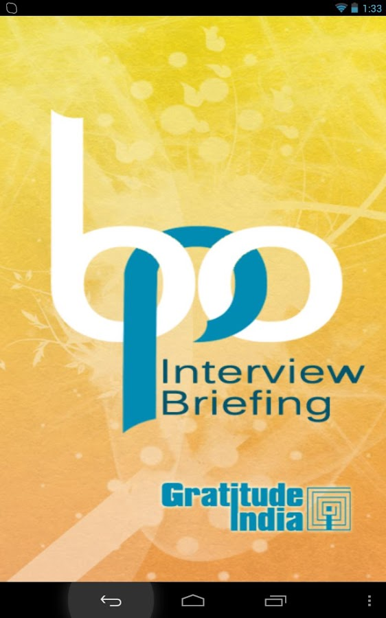 BPO Interview Briefing - screenshot