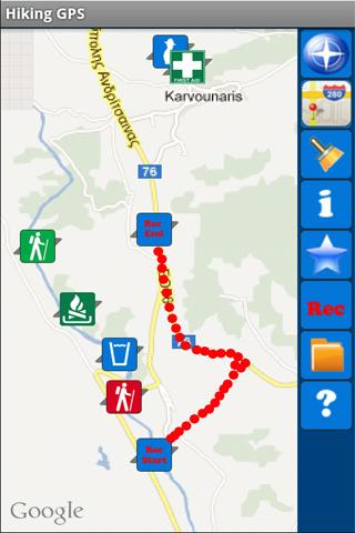 Hiking GPS Lite- screenshot