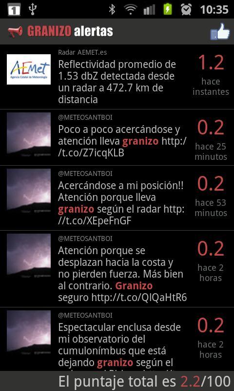 Hailstorm watch- screenshot