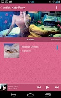 Screenshot of Nexmusic Pink Theme