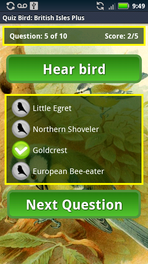 Quiz Bird: British Isles - screenshot
