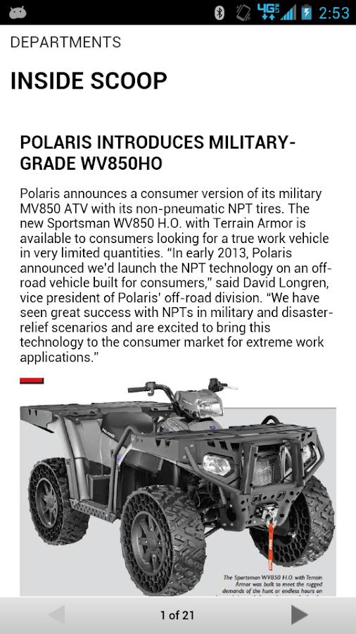 ATV UTV ACTION Magazine - screenshot
