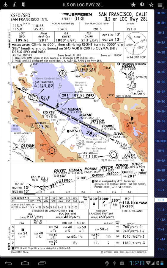 Jeppesen Mobile TC - screenshot