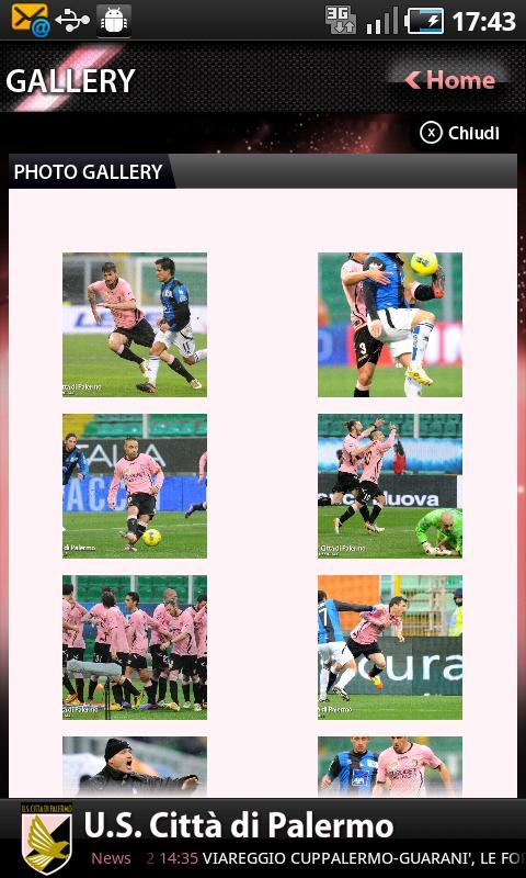 U. S. Palermo Calcio- screenshot