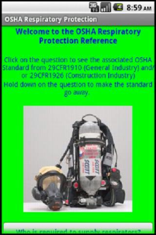 OSHA Reference: Respiratory