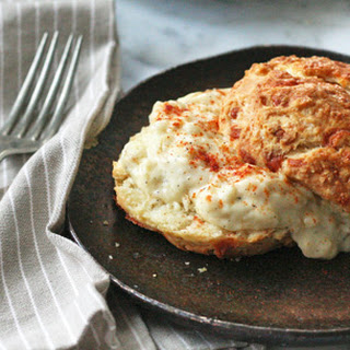 Cheddar Biscuits with Caramelized Onion Gravy