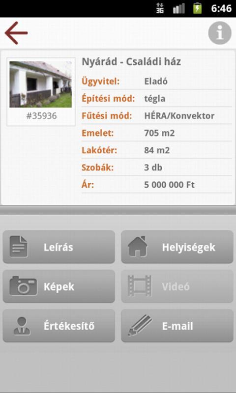 Openhouse Ingatlan- screenshot