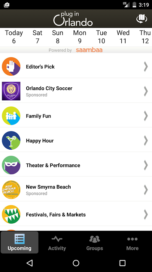 plug in Orlando Events- screenshot