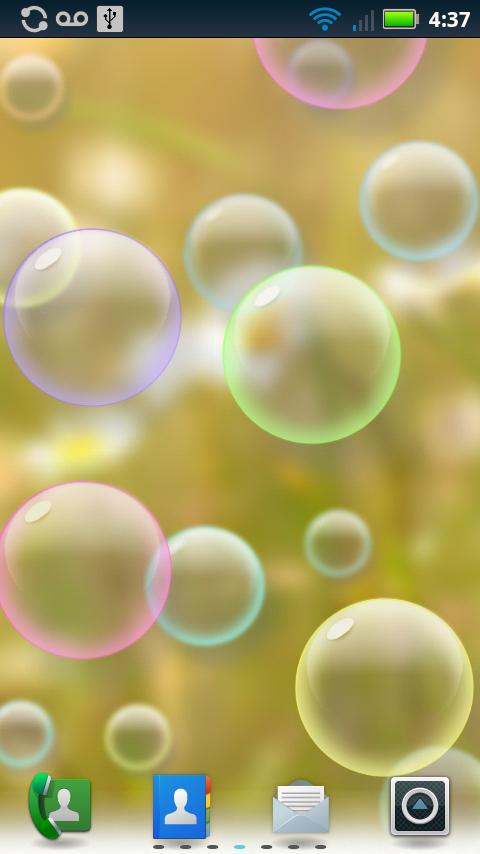 Bubbles Animated Wallpaper- screenshot