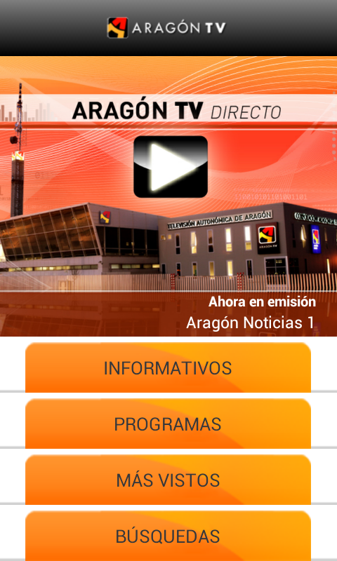 Aragón TV: captura de pantalla