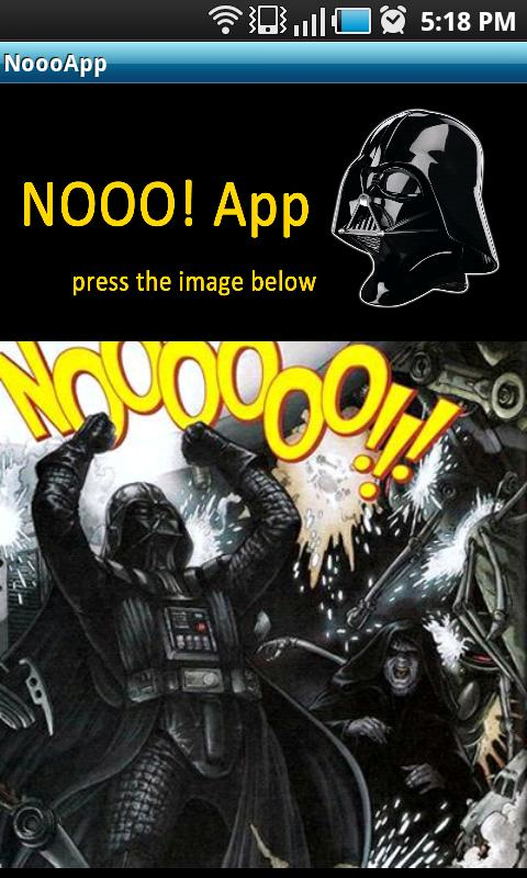 Darth Vader Nooo! Button- screenshot