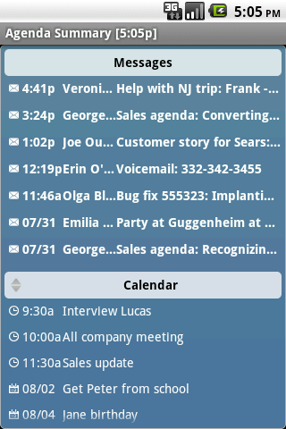 Agenda Messenger- screenshot
