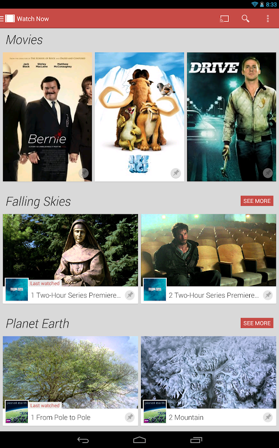 Google Play Films - screenshot