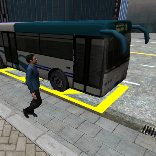 3D市街地走行 - バス駐車場 賽車遊戲 LOGO-玩APPs