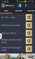 Screenshot of Military Radio