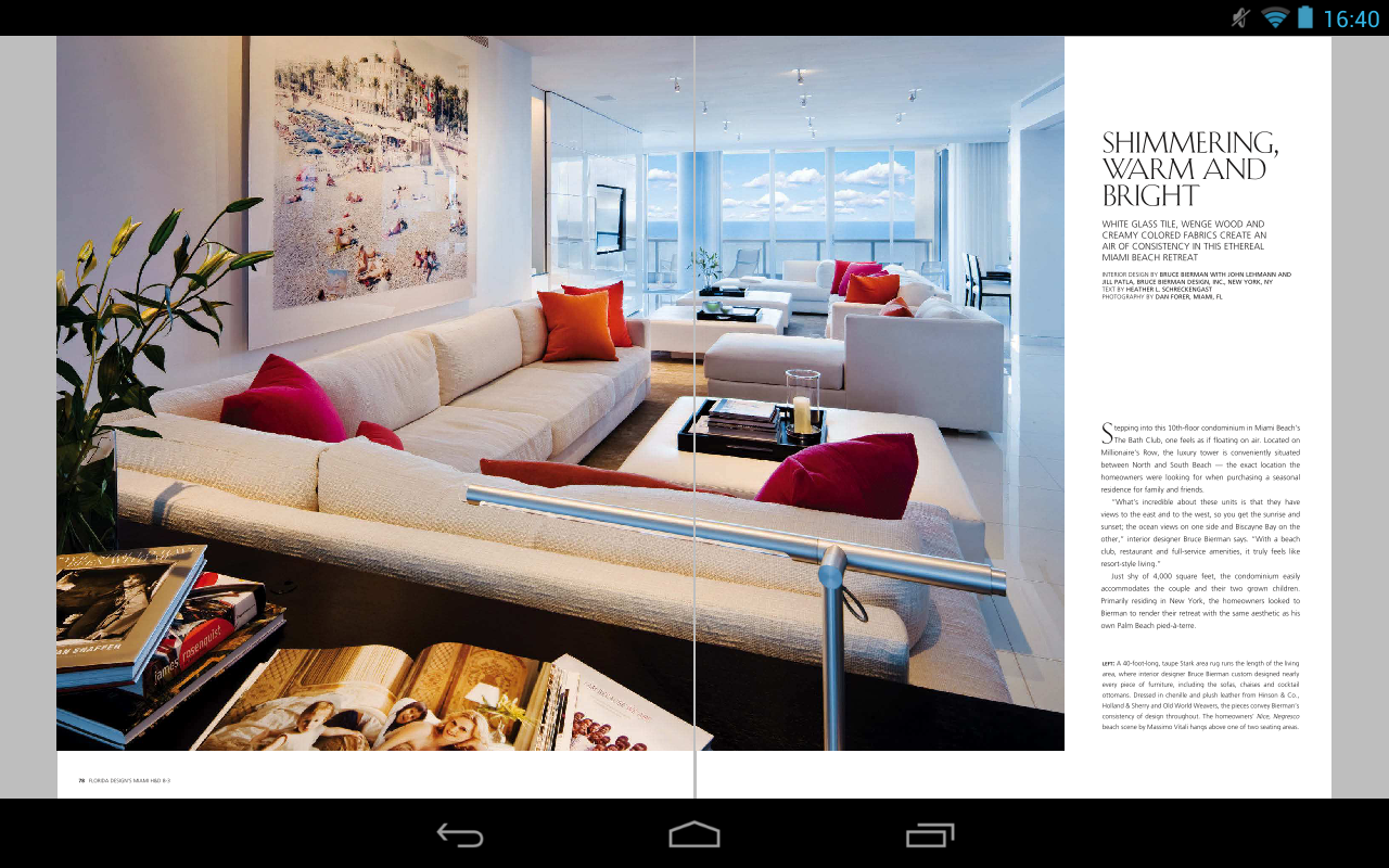 miami home decor magazine screenshot - Decor Magazine
