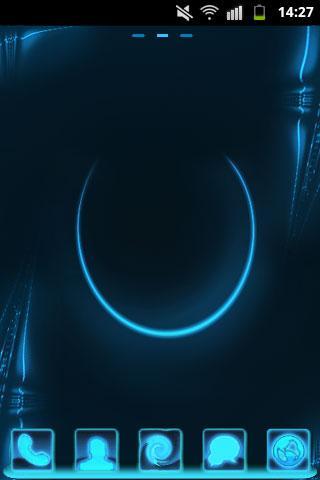 GO Launcher主題霓虹燈藍