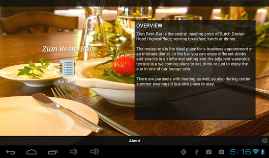 Restaurant Menu - screenshot thumbnail