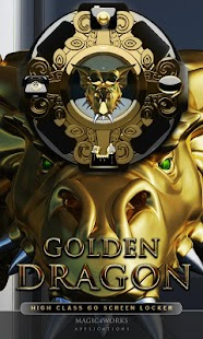 3D gold dragon GO Locker - screenshot thumbnail